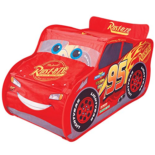 (Disney Cars KidActive Pop Up Playhouse Play Tent -  Indoor or Outdoor Portable Play - Lightning McQueen)