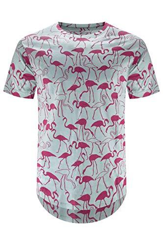 Trending Apparel New Men Random Logo T-Shirts Tabasco Chili Bannanas (L, Pink ()