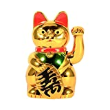 Lucky Cat, Acogedor Gold Waving Lucky Fortune Cat, Chinese Lucky Cat - Maneki Neko Feng Shui Waving Cat