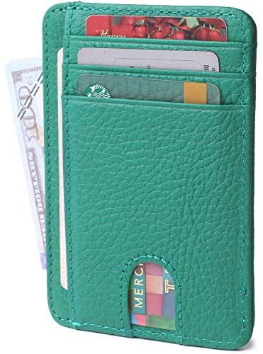 Slim Minimalist Credit Card Holder Front Pocket RFID Blocking Leather Wallets for Men & Women (Limited Dragon ()