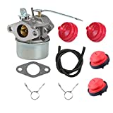 Butom 640086A 640086 632641 632552 Carburetor+Fuel Line+Primer Bulb+Fuel Filter for Tecumseh 3HP 2 Cycle Engine HSK600 HSK635 TH098SA AH600 Toro CCR1000 Snowblower