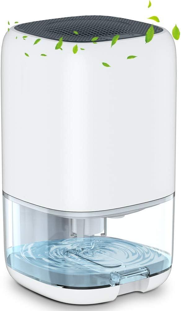 Deshumidificador de 1000 ml, mini deshumidificadores de aire eléctricos portátiles con poco ruido, eliminan el moho húmedo de la cocina, dormitorio, caravana, garaje, baño, sótano