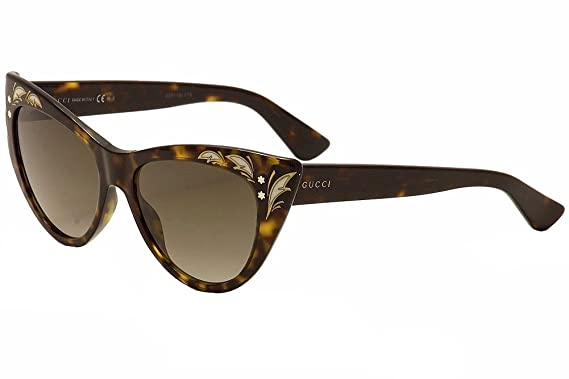 gucci 3806. gucci 3806/s 0086 dark havana ha brown gradient lens sunglasses 3806 amazon.com