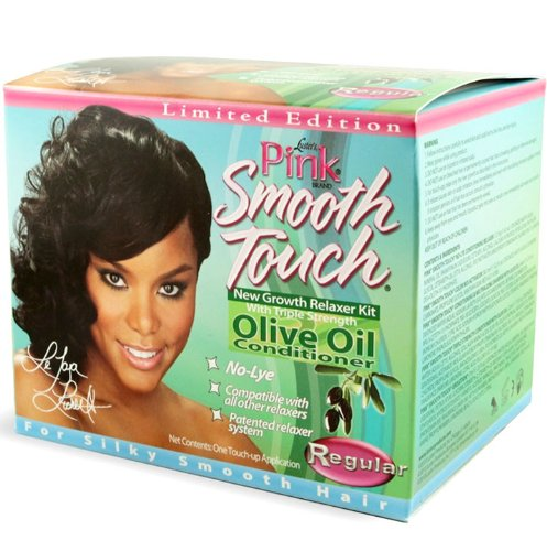 Pink Conditioning Relaxer - Luster's Pink Smooth Touch New Growth Relaxer Kit, Regular
