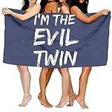 ZengJianSm Unisex I'm The Evil Twin Beach Towels Washcloths Bath Towels For Teen Girls Adults Travel Towel Pool And Gym Use 31x51 Inches