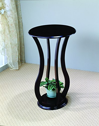 coaster-900934-round-plant-stand-with-curved-legs-cappuccino