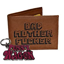 Bad Mother Fucker Wallet with Pussy Wagon Keychain Combo