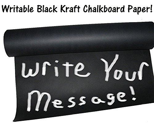 15' x 2' -Chalkboard Black Kraft Paper Roll,