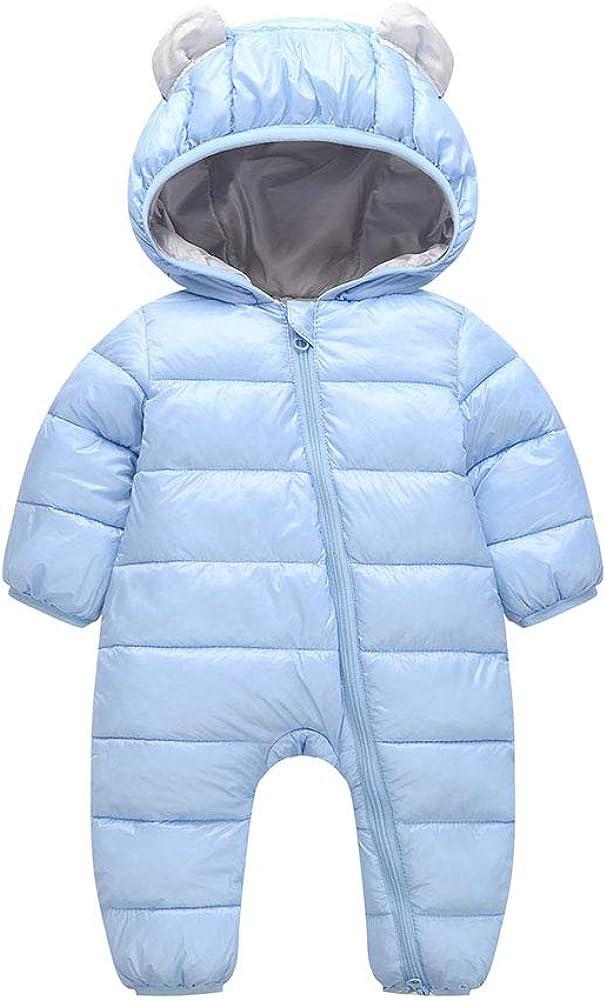 ALLAIBB Baby Unisex Puffer Romper Winter Warm Qulited Outerwear Packable Snowsuit