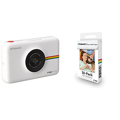 Polaroid Snap Touch cámara digital con impresión instantánea y pantalla LCD (blanco) con tecnología Zero Zink + Polaroid Premium Zink Paper: Amazon.es: ...