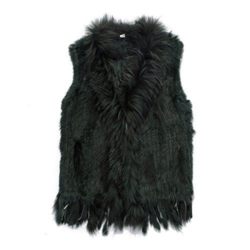 Used, Winter Sleeveless Mongolian Real Rabbit Fur Vest Jacket for sale  Delivered anywhere in USA