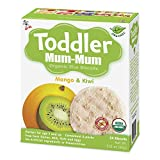 Hot-Kid Toddler Mum-Mum Rice Biscuits, Organic Mango & Kiwi, 24 Pieces (Pack of 6) Gluten Free, Allergen Free, Non-GMO, Rice Teether Cookie for Toddlers