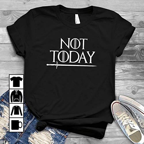 321bb336eca0d Amazon.com: Game Of Thrones Not Today T Shirt Long Sleeve Sweatshirt ...