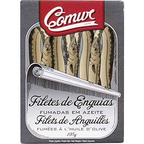Fillets Eel - ComurÂSmoked eel fillets in oil can 105 g