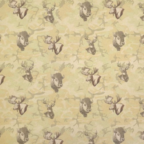 Deer Buffalo Moose Hunting Camouflage Kraft Present Gift Wrap Wrapping Paper -