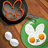 Easter Egg Mold - 1 Piece Orange Silicone Bunny Cartoon Fried Fry Egg Frame Breakfast Mold