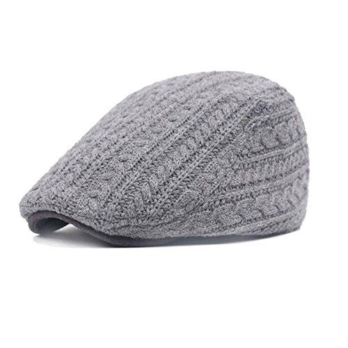8dea843f4133 Sombrero de espiga de algodón para hombre Gorras de boina plana ...
