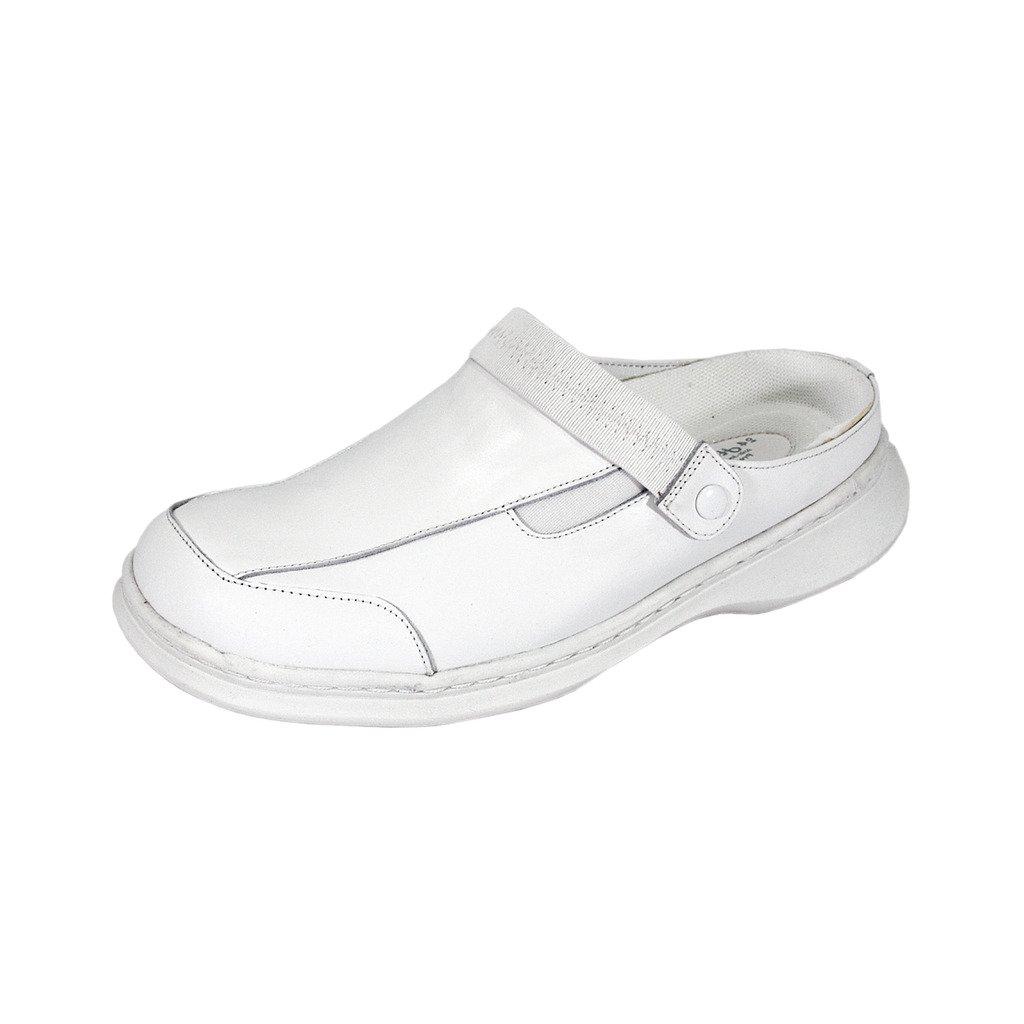 24 Hour Comfort  Clara Women Wide Width Professional Sleek Clog White 12