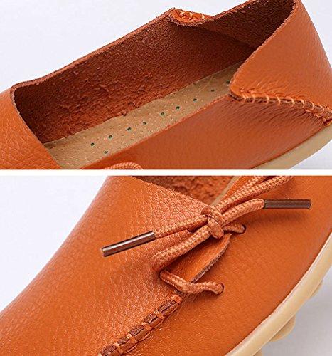 da Moda Barca Scarpe Arancione Traspirante Casuale Piselli Classico Scarpe Yuncai Donna Piana 87dq68w