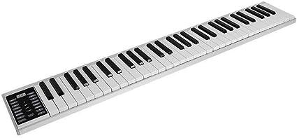 WOHAO Piano Digital Portátil de Mano de Teclado 61/88 Teclado ...