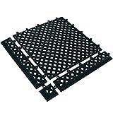 BOX USA BMAT320BK Lok-Tyle Drainage Mats, Tile, 12'' x 12'', Black
