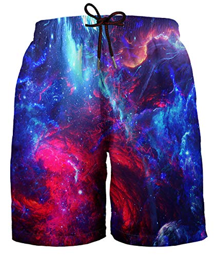 Space Mesh - Hgvoetty Galaxy Swimming Trunks for