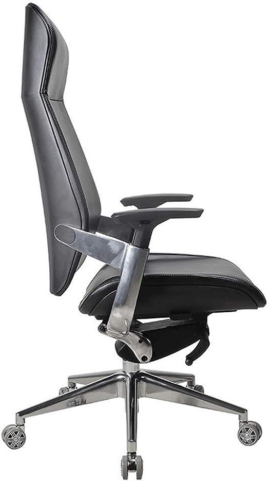 Silla de oficina ergonómica, silla giratoria de piel, silla de ...