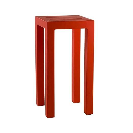 Vondom Jut mesa alta de exterior 100 cm con tablero 50x50 cm rojo ...