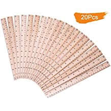 Salare 20 PCS Pack Wood Ruler for School /Office /Student Wooden Measuring Ruler,  With 2 scale (12 Inch and 30 CM)