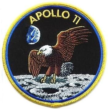 """Apollo 11 Patch Brode (50e Anniversaire) NASA Astronaute Coudre ou a Coller avec Fer a Repasser"""""""