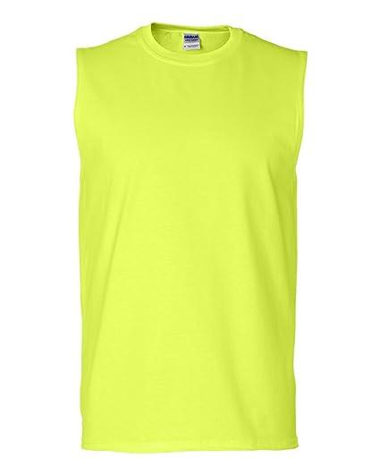 c618c94b0abd Gildan 6.1 oz Ultra Cotton Sleeveless T-Shirt 2700 at Amazon Men's Clothing  store: Athletic Shirts