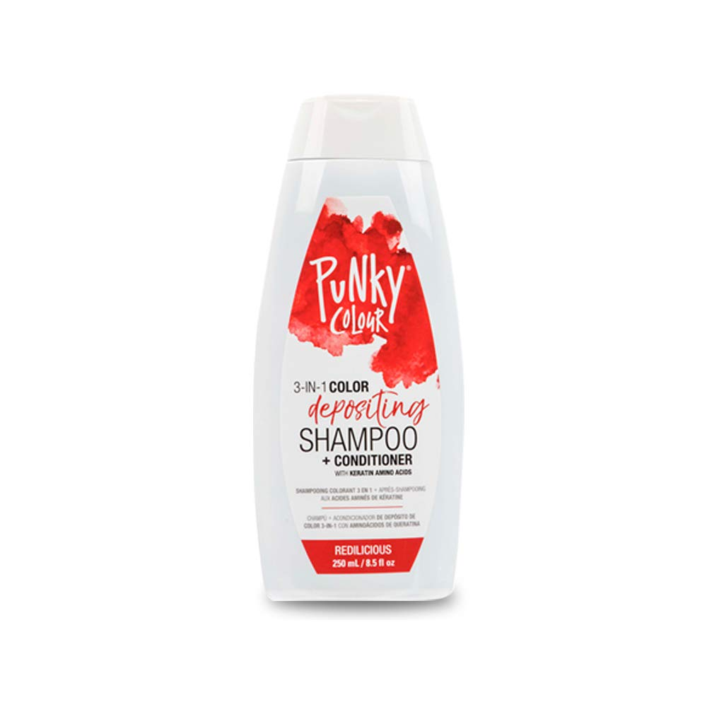Punky Redilicious 3-in-1 Color Depositing Shampoo & Conditioner with Shea Butter and Pro Vitamin B that helps Nourish and Strengthen Hair, 8.5 oz