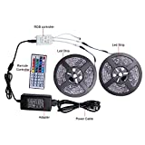 Relohas Led Strip Lights, 32.8ft(10M) Waterproof Flexible RGB Led Strip Light Kit,5050 SMD 300led with 44 IR controller for Home Decor,Trucks,Pools,Parties and More