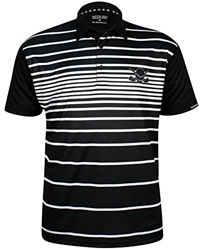 Fade II Performance Men's Golf Shirt by Tattoo Golf L (Tattoo Golf)