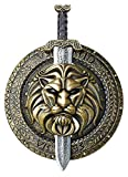 California Costumes Gladiator Combat Shield & Sword, Gold/Silver,One Size Costume Accessory