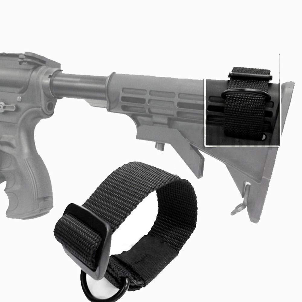Colore : Nero XFC-QDAI Rope Abay Militari Tattici buttstock Sling Adapter Pistola del Fucile della Cinghia di Pistola Strapping Belt Caccia Accessori