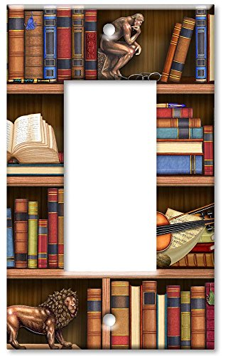 Single Gang Rocker Wall Plate - Books In Library
