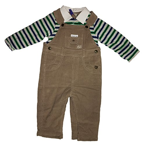 - Mayoral Baby Boy Onesie with Denim/Corduroy Style Overall with Collars (Brown Corduroy, 6-9 Months)