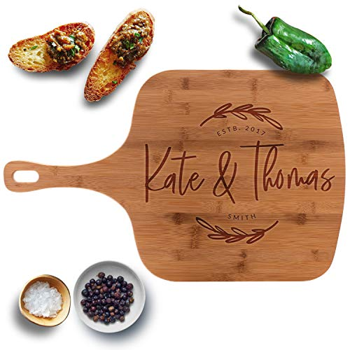 Personalized Pizza Peel, Bamboo Pizza Board 23 1/2