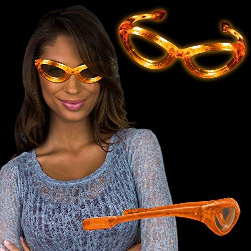 - Windy City Novelties Flashing Orange LED Sunglasses