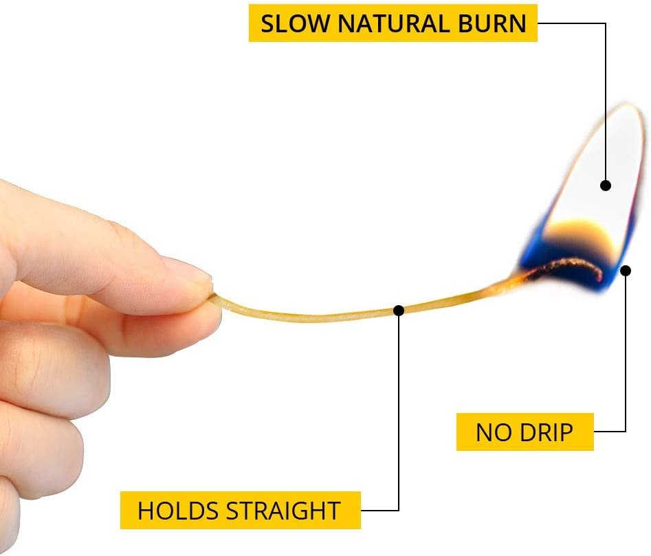 Hemp Wick Tailor Coated by Natural Beeswax Yellow CHUA100/% Organic Hemp Wick 200ft Pemium Raw Hemp Wicks of 1.2mm Diameter by Low Smoke /& Slow Burning Design as Best Gift Idea