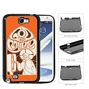 God Is Calling Orange Collage Art Hard Plastic Snap On Cell Phone Case Samsung Galaxy Note 2 II N7100