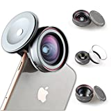 Z-PRIME UNIVERSAL 3 + 1 LENS KIT (TELEPHOTO, WIDE ANGLE AND MACRO LENS + LENS ADAPTER) for Apple iPhone, Samsung Galaxy series and Google Pixel