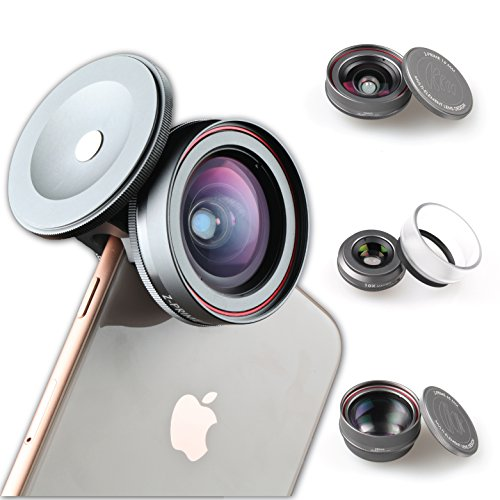 Ztylus Z-PRIME MARK II 3+1 Lens Kit: Telephoto, Wide Angle And Macro Lens with Lens Adapter for Apple iPhone 7 / 8 / 7 Plus / 8 Plus / X / XS / XR / XS MAX