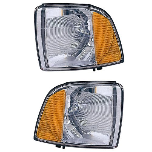 - 1999-2000-2001 Dodge Ram 1500 & 1999-2002 Ram 2500 3500 Full Size Pickup Truck Sport Model Park Corner Light Turn Signal Marker Lamp Pair Set Right Passenger AND Left Driver Side (99 00 01 02)