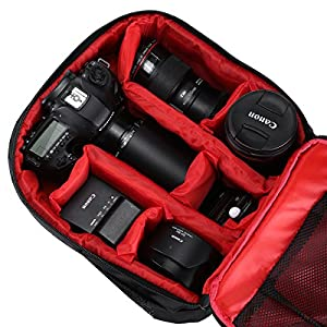 Powerextra Professional Waterproof Little DSLR Camera Backpack for Canon, Nikon, Sony, Olympus, Samsung, Panasonic, Pentax and More Cameras