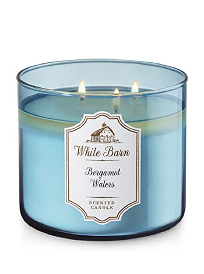 Amazoncom Bath Body Works 3 Wick Candle In Bergamot Waters Home