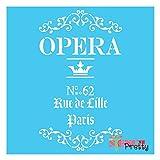 """French Opera Stencil - XS (6"""" x 11"""")"""