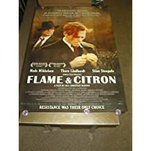 FLAME AND CITRON / ORIG. U.S. ONE SHEET MOVIE POSTER (MADS MIKKELSEN)