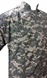 Camouflage Digital ACU Chef Coat Jacket Short Sleeve Soft Cotton Easy Care Cook Coat (4X 74 in.Chest)